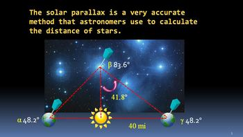 Math and Science - Finding the Solar Parallax Trigonometry Unit