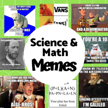 Math And Science Memes Get Back To School Ready Tpt