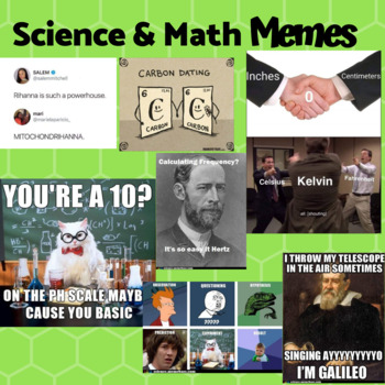 Math and Science Memes *Get Back to School Ready*
