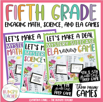 Math Review Game and Science Review Game Shows {Deal or No