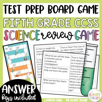 Math and Science Review Game for Fifth Grade Test Prep *Bundled*