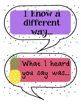 Math and Science Sentence Starters and Questions Pineapple Theme