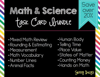Math and Science Task Card Bundle