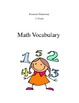 Math and Science Vocabulary Book -1st Grade