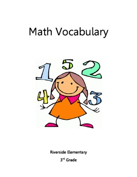 Math and Science Vocabulary Book - 3rd Grade