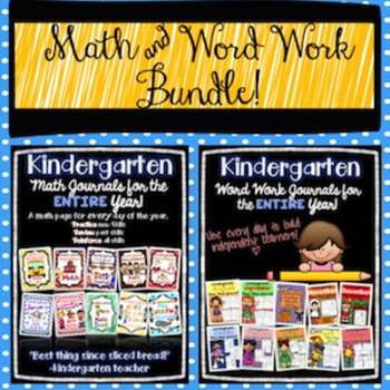 Math and Word Work Journals All Year!