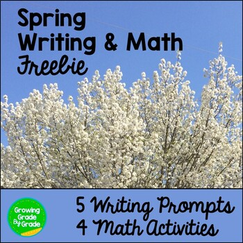 Math and Writing Activities Spring Freebie