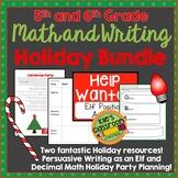 5th and 6th Grade Math and Writing Holiday Activity Bundle