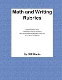 Math and Writing rubrics
