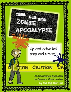 Word Problems for No-Prep Test Prep : Math and the Zombie