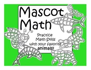 Math animal art practice skills in addition
