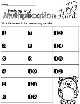 Math around the room-Multiplication series
