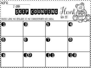 Math around the room - skip counting