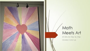 Math art Valentines Kids art project heart step by step lines