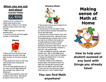 Math at Home Flyer