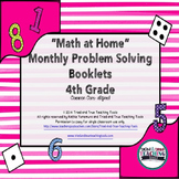 BACK TO SCHOOL Math at Home: Monthly Problem Solving for 4