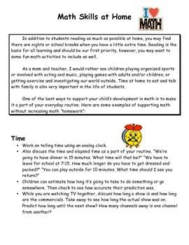 Math at Home ideas