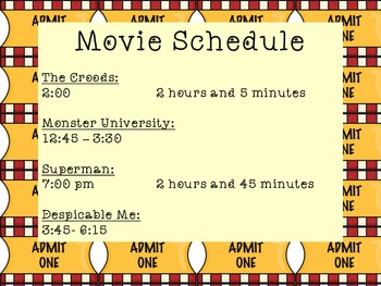 Math at the Movies- Lights, Camera, Math