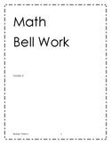 Math bell work grade 6 - Theme 2