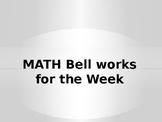 Math bellwork