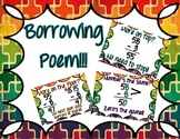 Math borrowing poem posters! 3 pages!