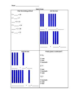 Math boxes-common core-1st graders