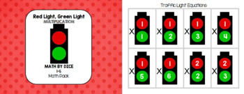 Math by Dice - Red Light, Green Light 1-6 Multiplication Math Pack