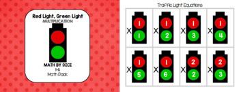 Math by Dice - Red Light, Green Light 1-6 Multiplication Math Pack