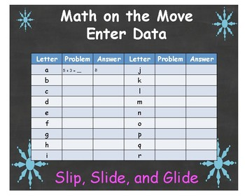 """Math can Move _ Editable Version for January called """"Slip, Slide, and Glide"""""""