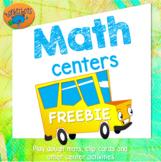 Math center freebie