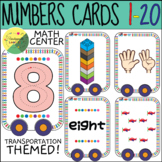Math center transportation theme (0-20 numbers)