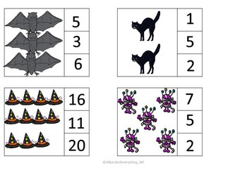 Print and go maths centers - Counting, patterns and sequencing