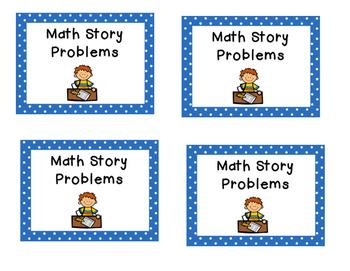 Math centers rotation cards