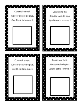 Math centres- les additions French