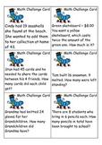 Math challenge cards