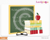 Math class clip art icon scene as a single png graphic