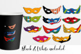Math clip art. Counting stars in superhero mask