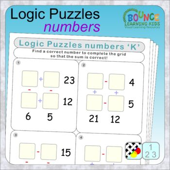 Math code 1 (21 distance learning worksheets for Numeracy)