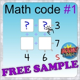 Math code 1 level 1 (BOOM CARDS digital distance learning