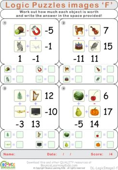 Math code 2 (15 Numeracy sheets)