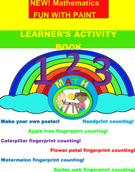 FREEBIE!!!Math counting printables-Fingerprint painting fun!