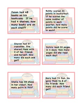 Math division word problems
