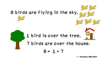 Kindergarten Math mini book-  Decomposing number 8  (K.OA.A.3)
