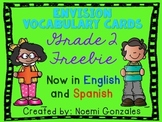 Math enVision Vocab Cards Grade 2 FREEBIE