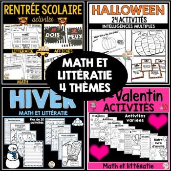 Math et Littératie - thèmes variés (+ activités et intelligences multiples)