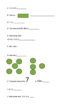 Mathex Sheet for Juniors