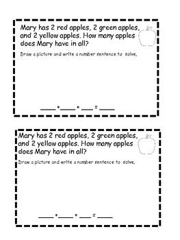 Math exemplar or story problem practice book.