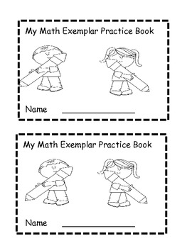 Math exemplar or story problem practice book.