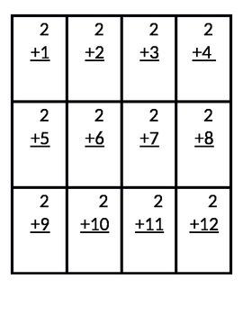 Math fact flash cards