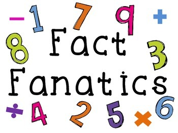 Math fact sticker charts and minute timed tests